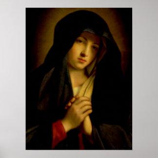 Välsignade jungfruliga Mary - mor av guden Poster