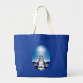 Välsignade jungfruliga Mary över hav Jumbo Tygkasse
