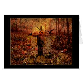 Välsignade Samhain - fågelskrämmakort Hälsningskort