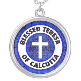 Välsignade Teresa av Calcutta Silverpläterat Halsband