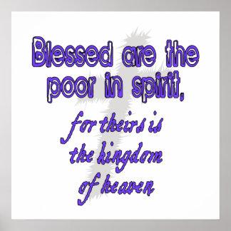 Välsignat är det fattigt i ande poster