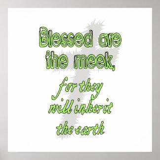 Välsignat är det ödmjukt poster