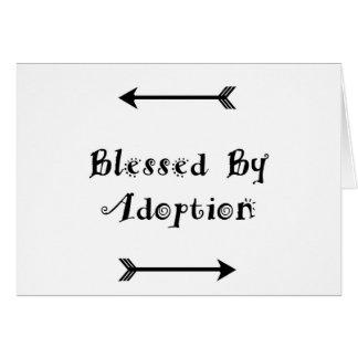 Välsignat av adoption - fosterhem hälsningskort