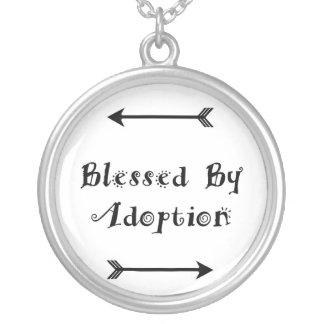 Välsignat av adoption - fosterhem silverpläterat halsband