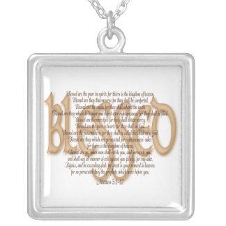 Välsignat - Beatitudes Silverpläterat Halsband