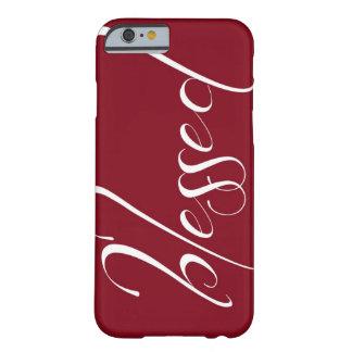 Välsignat djupt - rött fodral för påståendeiPhone Barely There iPhone 6 Fodral