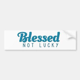 Välsignat inte lyckligt (turkos) bildekal