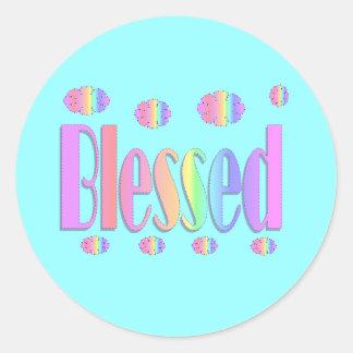 Välsignat Runt Klistermärke