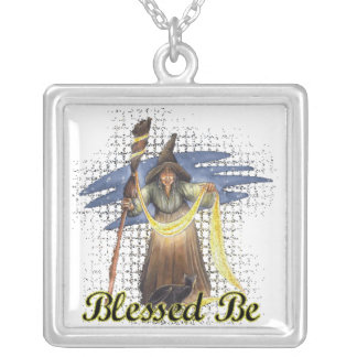 Välsignat var silverpläterat halsband