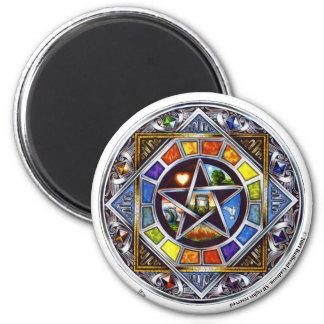 Välsignelse av inslagrundamagneten magnet