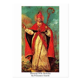 Välsignelse av St Nicholas av Francesco Guardi Vykort