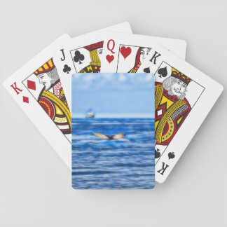 Valsvan och frakt på horisontfractalen i blått spelkort