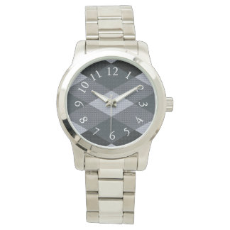 Vältalig-Täcke-Åtlöje-Grått-Mång--Stilar Armbandsur
