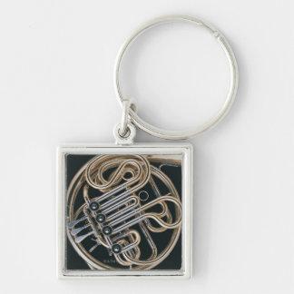 Valthorn Fyrkantig Silverfärgad Nyckelring