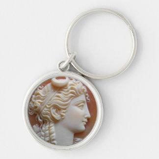 Valuegem Cameo Keychain Rund Silverfärgad Nyckelring