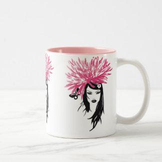 Valuegem Fusha rosa brudtärnamugg Två-Tonad Mugg