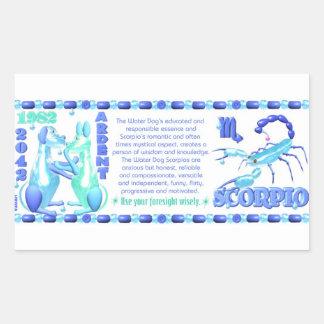 ValxArt 1982 2042 födda Scorpio för Rektangulärt Klistermärke