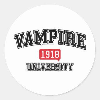 Vampyr Runt Klistermärke