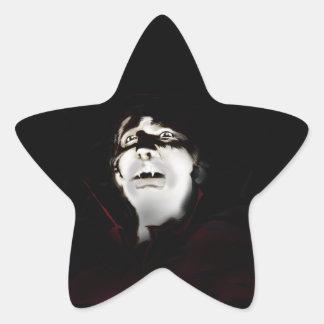 Vampyr Stjärnformat Klistermärke