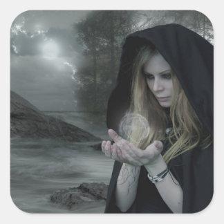 Vampyr & Witchcraft Fyrkantigt Klistermärke