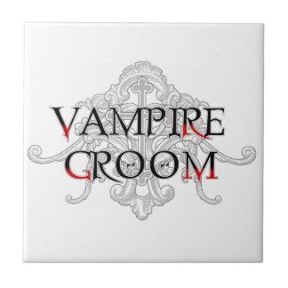 Vampyrbrudgummen belägger med tegel liten kakelplatta