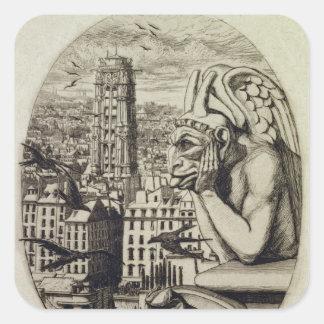 Vampyren, 1853 fyrkantigt klistermärke