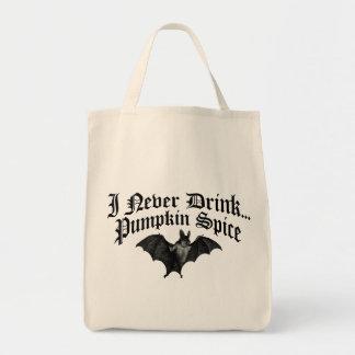 Vampyren dricker jag aldrig pumpakryddan mat tygkasse