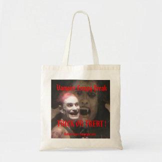 Vampyren kusliga onormala Halloween hänger lös! Bu Budget Tygkasse