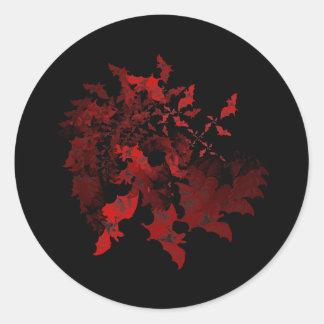 Vampyren slår till rött runt klistermärke