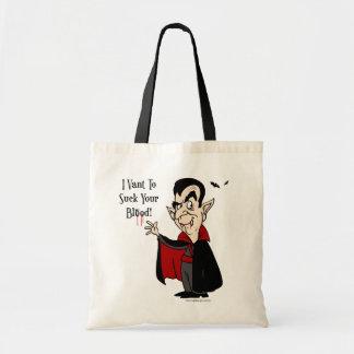 Vampyren suger ditt blod! budget tygkasse