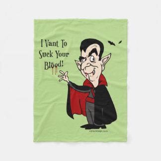 Vampyren suger ditt blod! fleecefilt