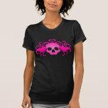Vampyrgothskalle i rosa toppet gulligt tröjor