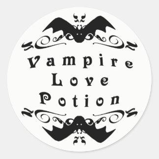 Vampyrkärlekdryck Halloween Runt Klistermärke