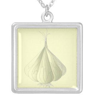 Vampyrskydd - vitlök silverpläterat halsband