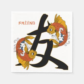 Vän för KanjiKoi fisk Servetter