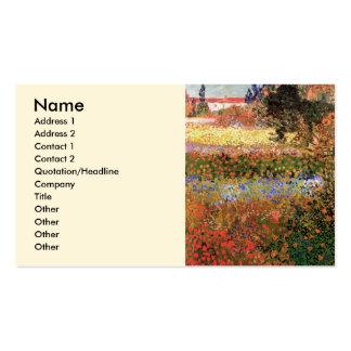 Van Gogh; Blomma trädgården, blommar vintage blomm Visitkort Mallar
