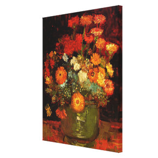 Van Gogh - bunke med Zinnias Canvastryck