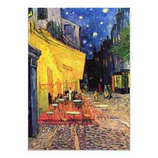 Van Gogh Cafeterrass på stället du Fora, konst 12,7 X 17,8 Cm Inbjudningskort
