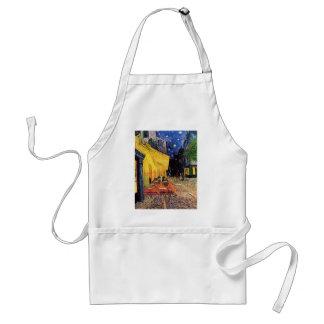 Van Gogh Cafeterrass på stället du Fora, konst Förkläde