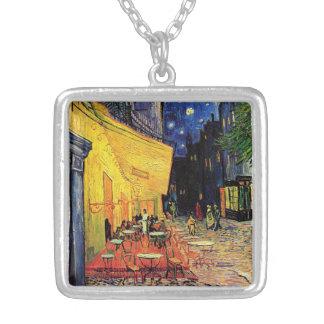 Van Gogh Cafeterrass på stället du Fora, konst Halsband Med Fyrkantigt Hängsmycke