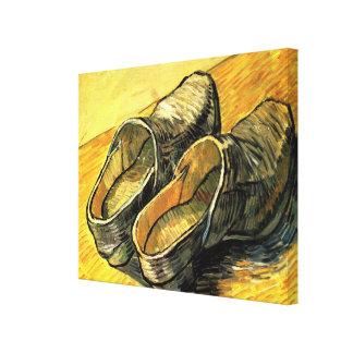 Van Gogh; En para av läderträskor Canvastryck