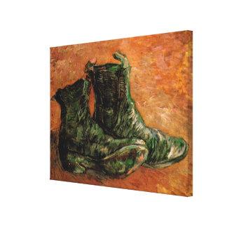 Van Gogh en para av skor, vintagestilleben Canvastryck
