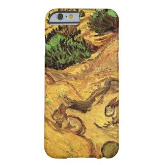 Van Gogh fält med två kaniner, vintagekonst Barely There iPhone 6 Fodral