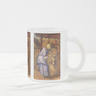 Van Gogh; FårShearers, vintageImpressionism Frostad Glasmugg