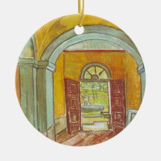 Van Gogh farstu av det St Paul sjukhuset Julgransprydnad Keramik