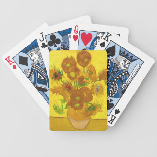 Van Gogh femton solrosor i en vaskonst Spelkort