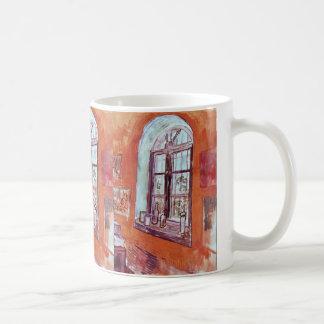 Van Gogh fönster av Vincents studio på asylen Kaffemugg