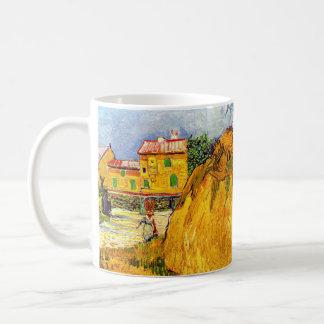 Van Gogh höstackar i Provence, vintagekonst Kaffemugg