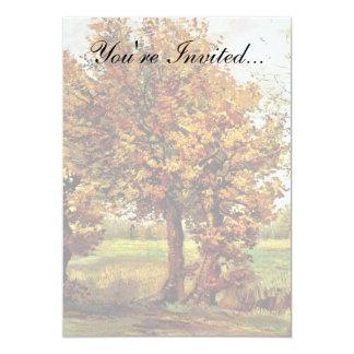 Van Gogh - hösten landskap med fyra träd 12,7 X 17,8 Cm Inbjudningskort