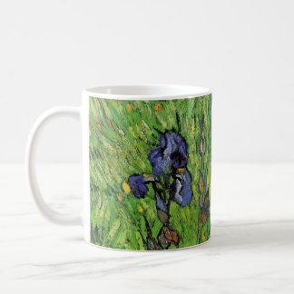 Van Gogh Iris, trädgårds- konstblommor för vintage Vit Mugg